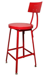 Bar Stool with Steel Seat