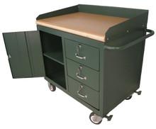 Maintenance Bench with Flush Hardwood Top