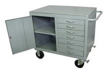 "Maintenance Bench w/ 3/8"" Plate Top and 7 Drawers"