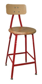 Bar Stool with Wood Seat