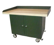 Cabinet Mobile Maintenance Bench with Hardwood Top