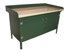 Cabinet Work Bench with Steel or Laminated Maple Top