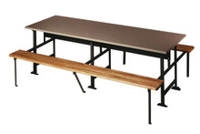 Lunch Table with Plastic Laminated Top