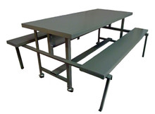 Lunch Table with Steel Top