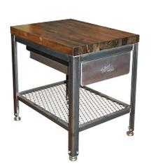 Steel/Wood End Table