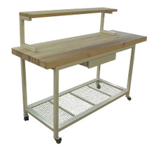 Mobile Cutting Board Station/Kitchen Island