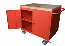 Cabinet Maintenance Bench with Flush Wood Top