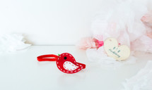 Felt Birdy Headband - Red
