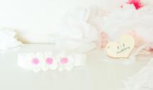 White Petite Floral Headband