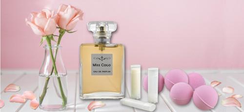 Miss Coco Perfumes & Rose Bath Bombs