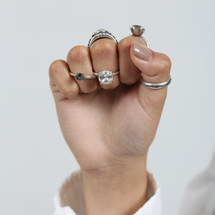 Starlight Cushion Cut Ring (RR271)-$69
