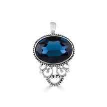 Brocade Blue Pendant (EN856)