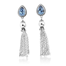 Sabrina Denim Drop Earrings (E4210)