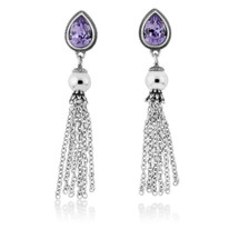 Sabrina Tanzanite Drop Earrings (E4212)