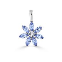 Light Sapphire Daisy Pendant (EN1652)-$99