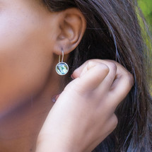 Teal Eco-Glam Earrings (E4446)