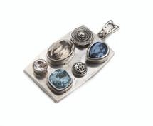 Calypso Burnished Silver Pendant (EN919)