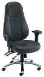 Cheetah Ergonomic 24 Hour Leather Task Chair