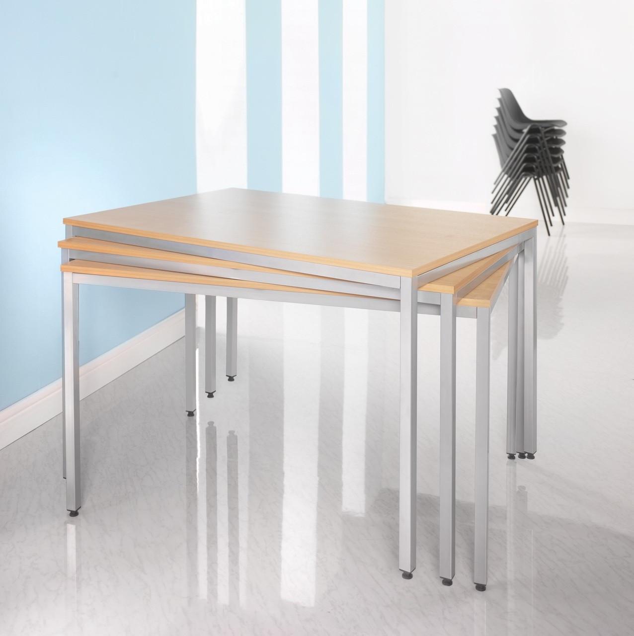 Rectangular Flexitable Meeting Training Room Stackable Table Dm