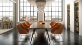 Moment Rectangular Wooden Boardroom Meeting Room Leg Table (FOG)