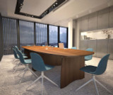 Gresham EX10 Boatshaped Boardroom Table
