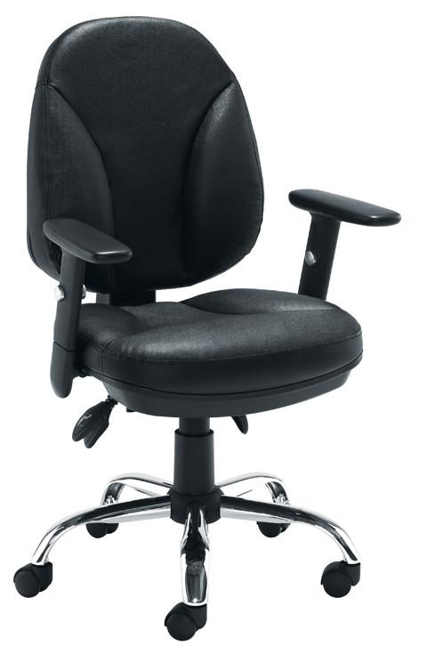 Puma Black Leather Operator Chair