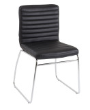 Lazio Designer Black Faux Leather Chair