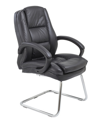 Colorado Executive  Visitor Meeting Room Chair Black Faux Leather (CT)