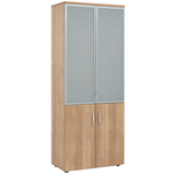 High Storage Cabinet - Glass Doors