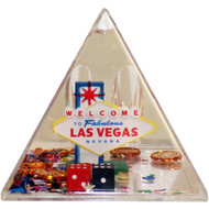 Snowglobe Paperweight-Pencil Holder LAS VEGAS Pyramid