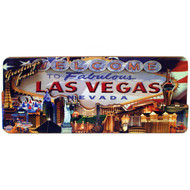 3D Wood Las Vegas Magnet- US Flag Design