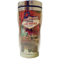 Las Vegas Fireworks Collage Stainless Steel Thermal Mug-16oz.