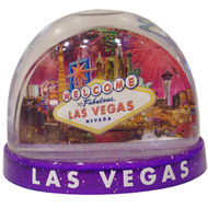 Fireworks Snowdome Las Vegas Souvenir- Large- Mixed colors (read description)