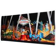 Las Vegas Souvenir Beach Towel- Black Spotlights
