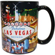 "LV Souvenir Mug ""Embossed Design"" -Hotel Collage 16oz."