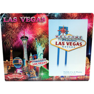 Glass Las Vegas Picture Frame Fireworks Design