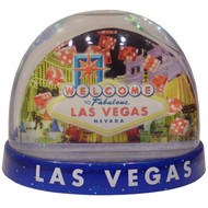 Dice Snowdome Las Vegas Souvenir- Large