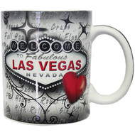 Las Vegas Red & Gray Souvenir Mug 12oz.