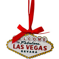 Las Vegas Color Sign Metal Christmas Ornament