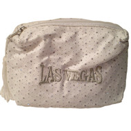 White Las Vegas Diamond Stars- Cosmetic Bag