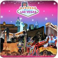 Las Vegas Pink Skyline Coaster Set of 4