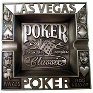 Poker Classic Pewter Ashtray-Die Cut