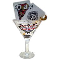 Las Vegas Martini Glass Magnet