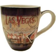"Las Vegas Souvenir ""Postage Stamp"" Design Fluted Mug-16oz"