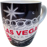"""Retro"" Black Las Vegas Sign Mug-18oz."