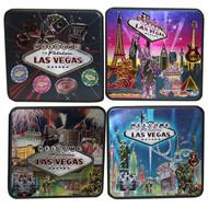Set of 4 Las Vegas Metallic Coasters