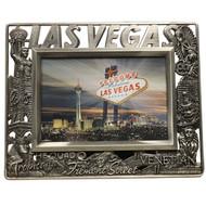 """METAL Pewter """"Las Vegas"""" Picture Frame"""