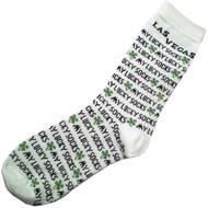 Las Vegas Souvenir White Lucky Socks
