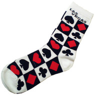Las Vegas White Card Suits Souvenir Socks