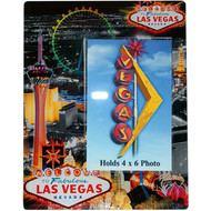 Glass Las Vegas Picture Frame Color Line Design